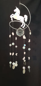 Unicorn Suncatcher Rose Quartz