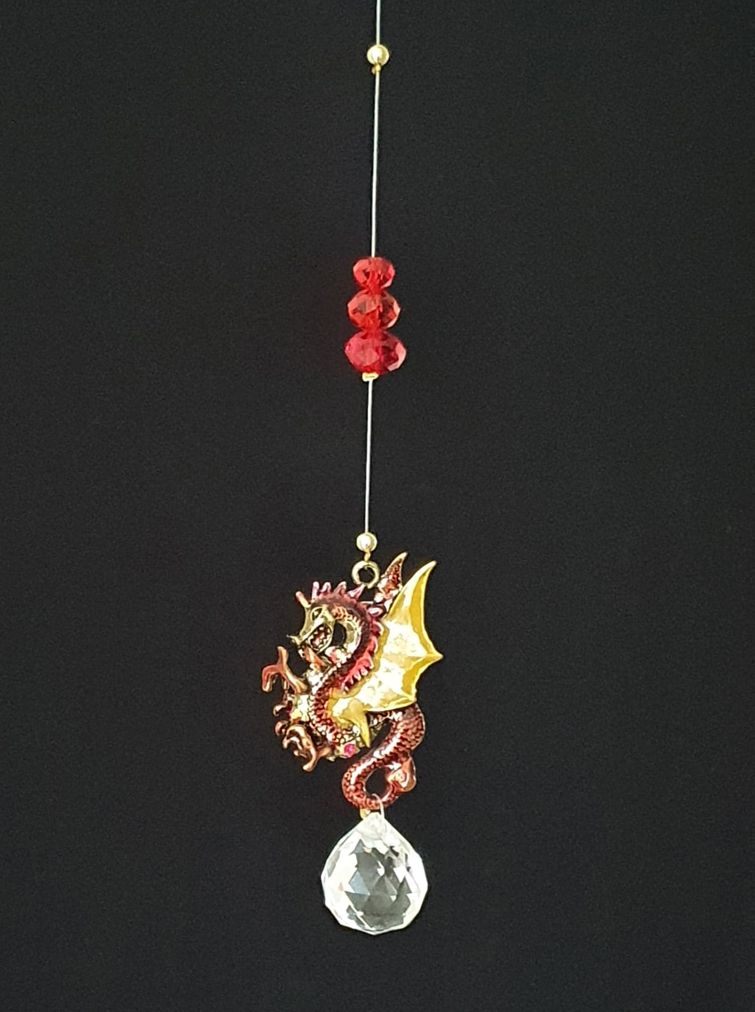 Red Dragon Single Drop Suncatcher