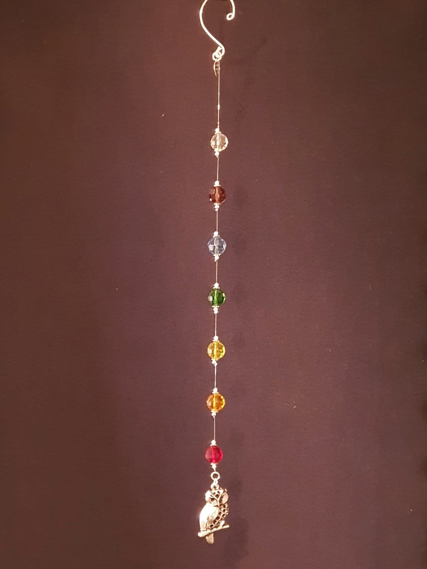 Owl theme Chakra / Rainbow colour hanging decoration