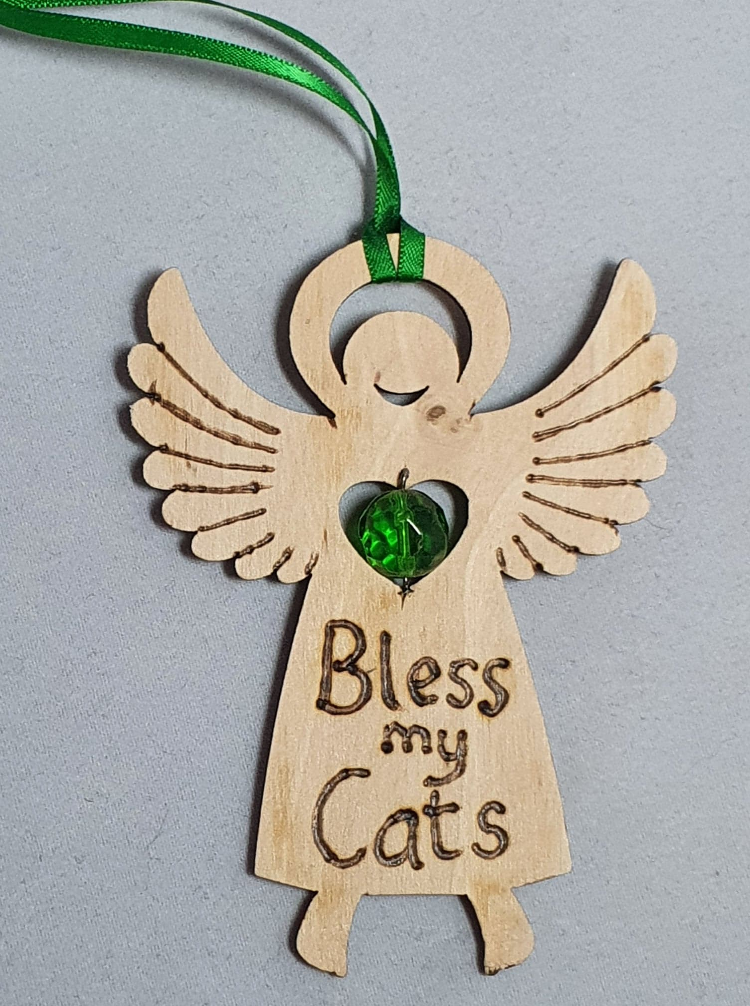 "Rustic Charm Angel ""Bless by Cats"""