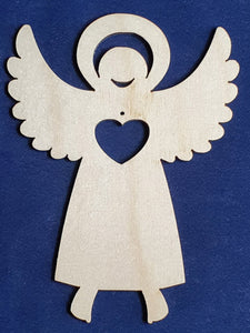 "Rustic Charm Angel with word ""Hope"""
