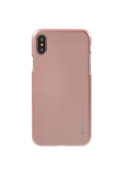 Mercury i-Jelly Case zlati za Apple iPhone X XS (5.8