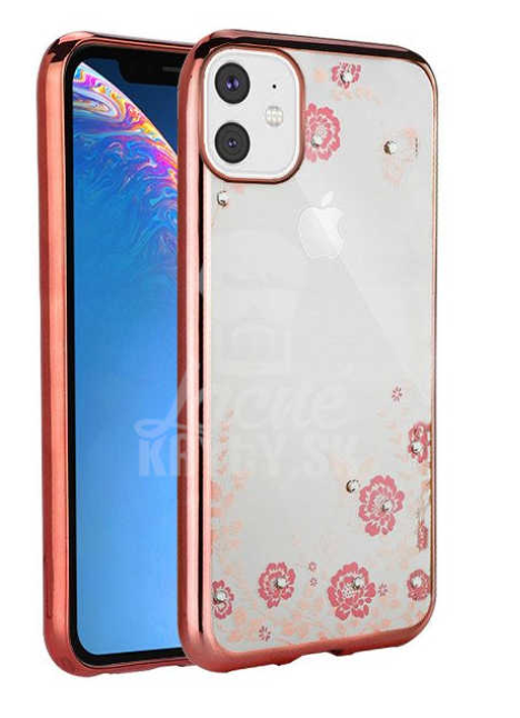 Gel etui Flower bronasti za Apple iPhone 11 (6.1