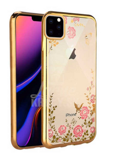 "Gel etui Flower zlati za Apple iPhone 11 Pro (5.8"") - mobiline.si"