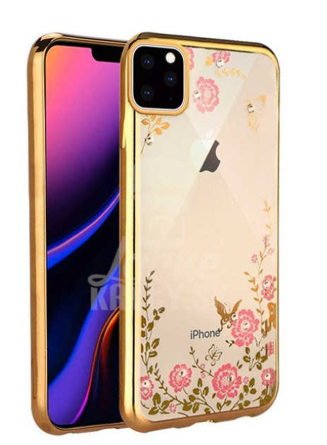 Gel etui Flower zlati za Apple iPhone 11 Pro (5.8