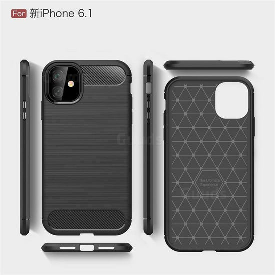 Gumijasti / gel etui Carbon za Apple iPhone 12 / 12 Pro (6.1