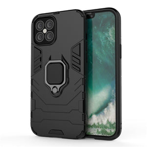 "Zaščitni etui Armor Ring za Apple iPhone 12 / 12 Pro (6.1"") - črni - mobiline.si"