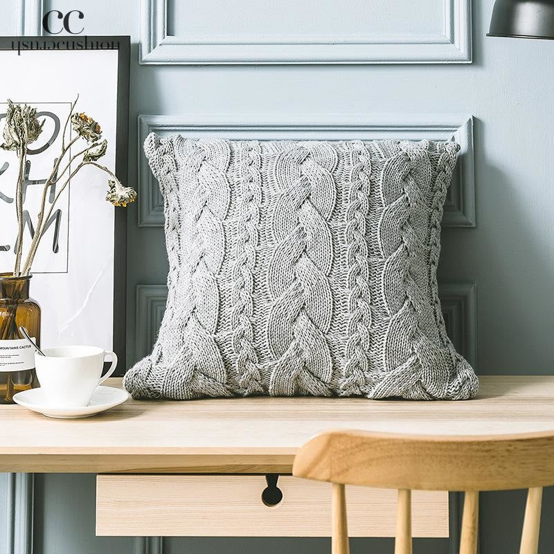 Knitted Braids cushion cover