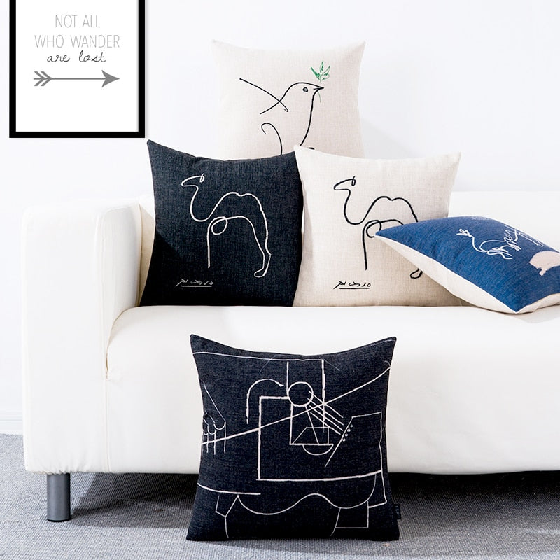 Sketching Picasso-Pillow Cover