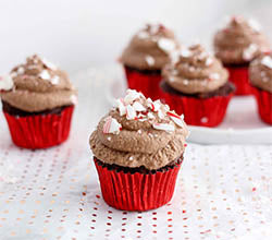 Chocolate Cupcakes with Cacao Coconut Frosting