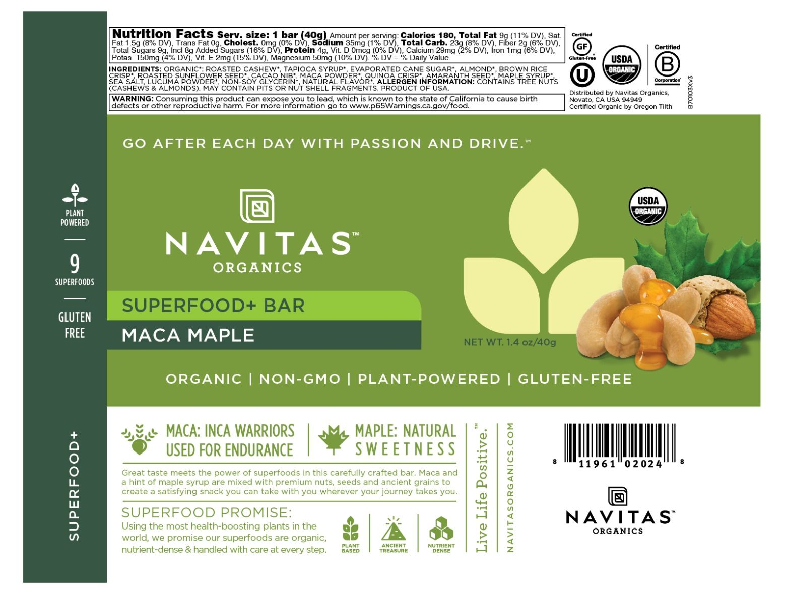 Superfood + Bar Maca Maple