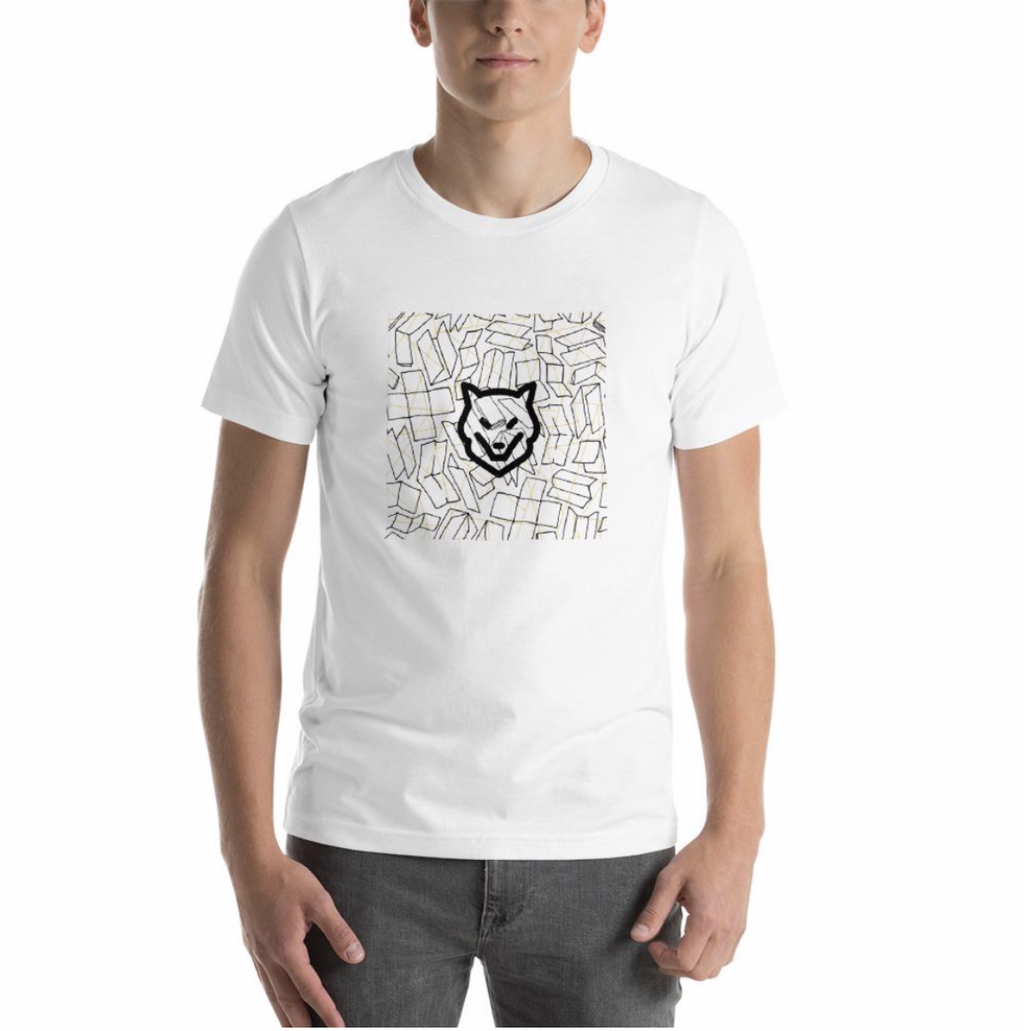 Short-Sleeve Unisex T-Shirt- with artful logo from Wolf Kanactus - Wolf Kanactus