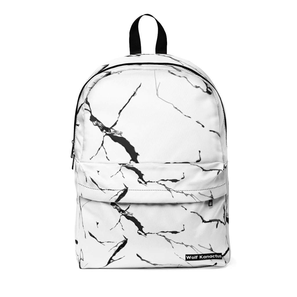 Unisex Classic Backpack- Marble Pattern from Wolf Kanactus