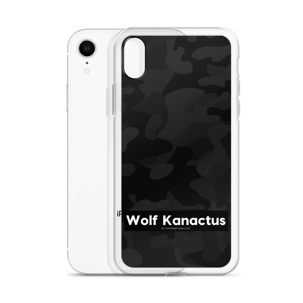 IPhone Case- dark camouflage - Wolf Kanactus