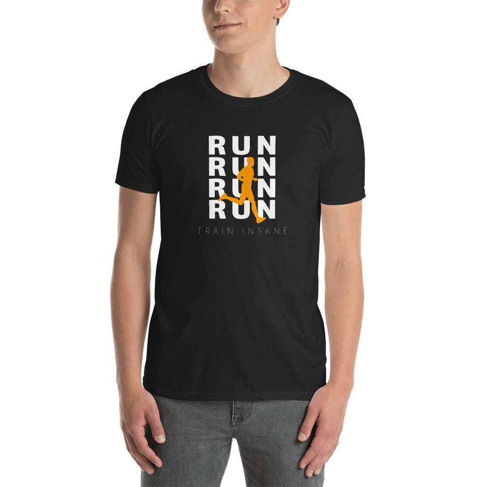 Short-Sleeve Unisex T-Shirt- RUN train insane - Wolf Kanactus