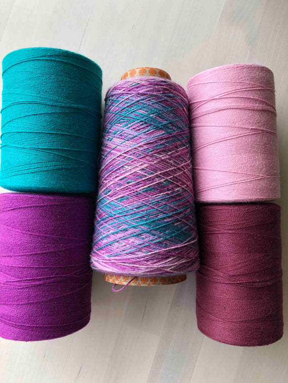 Mixed Berry Variegated 8/2 Cotton