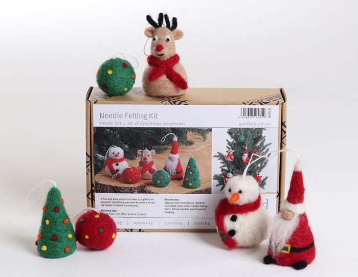 Ashford's New Christmas Needle Felting Kit has arrived