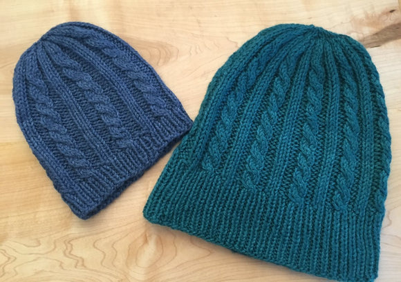 Stretchy Cable Hat Knitting Kit