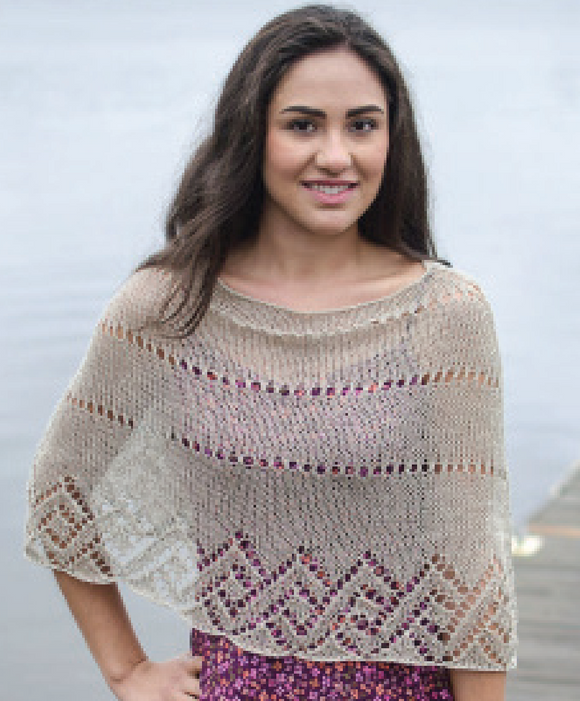 Island Heights Poncho Pattern by Lynda Rossetti