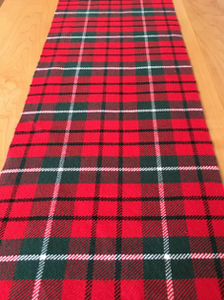 Christmas Tartan Runner Weaving Pattern and WIF