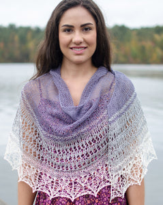 Zambra - Crescent Shawl or Stole - by Susanna IC