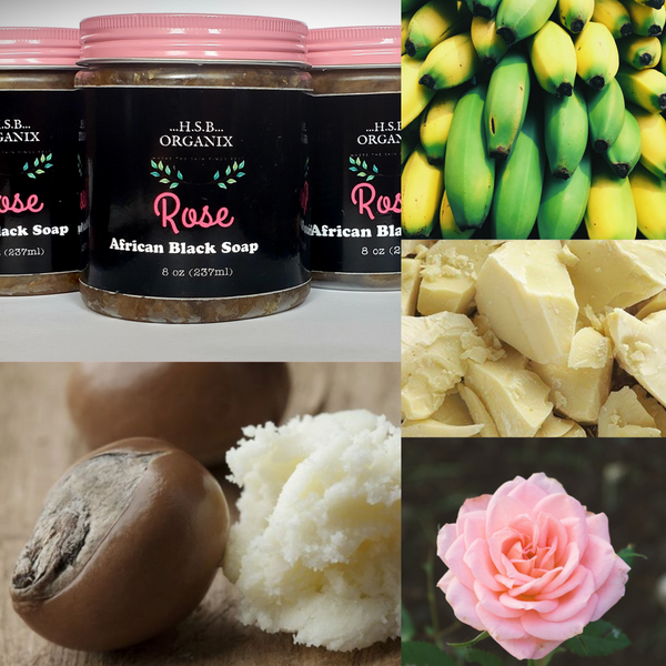 African Black soap. Rose