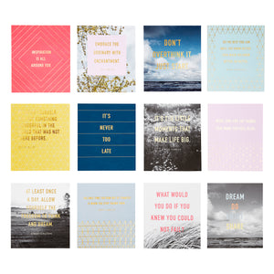 Quote Card Set of 12: Inspiration