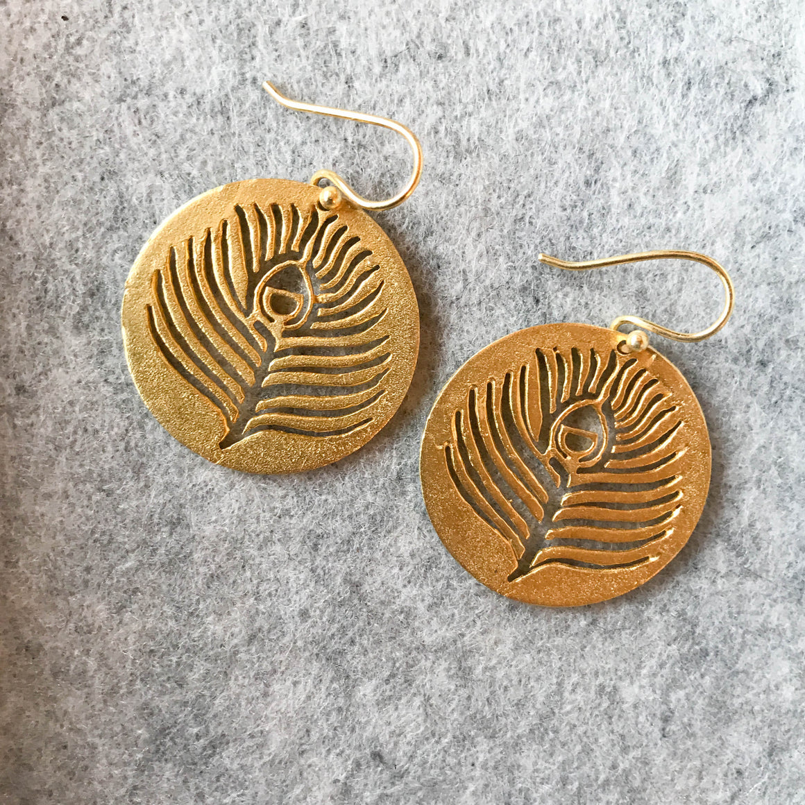 Limited Edition Peacock Earrings