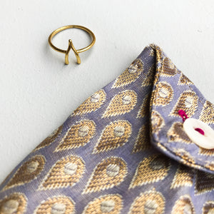 Lucky Gold Wishbone Ring