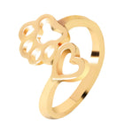 Lovely Heart Dog Opening Ring