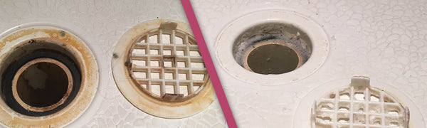 Drain Before and After