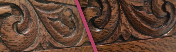 Wood Before and After