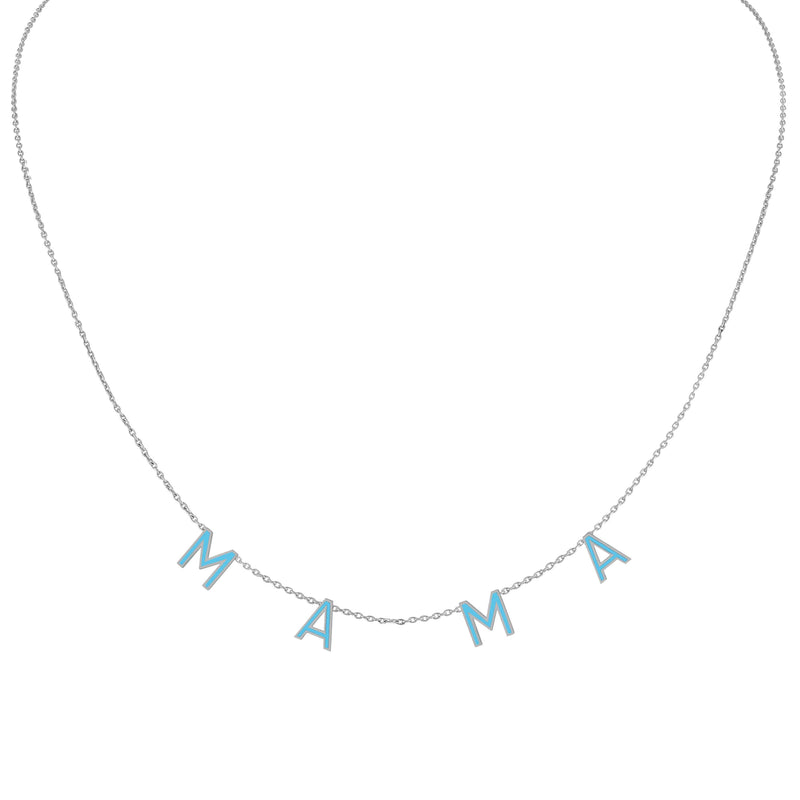 Enamel Letter Necklace - Boy Mama