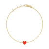 Mini Enamel Heart Bracelet