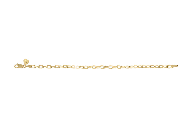 Elongated Cable Chain Bracelet
