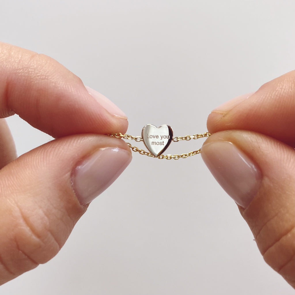 Mini Heart Chain Ring