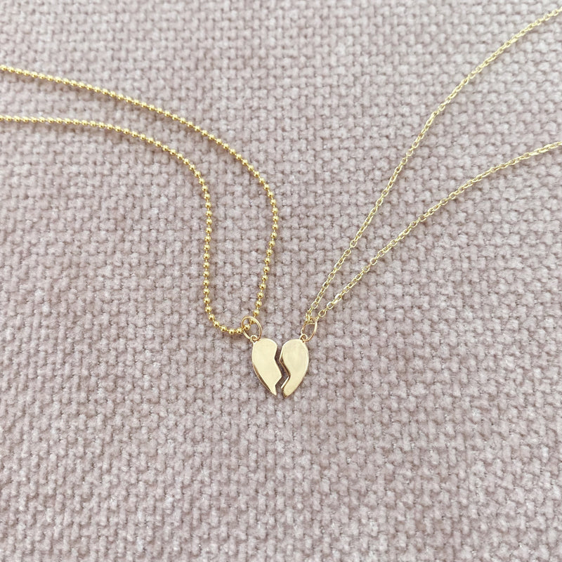 Mini BFF Heart Necklace Charm Set