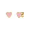 Mini Enamel Heart Studs