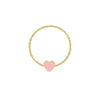 Mini Mini Enamel Heart Chain Ring
