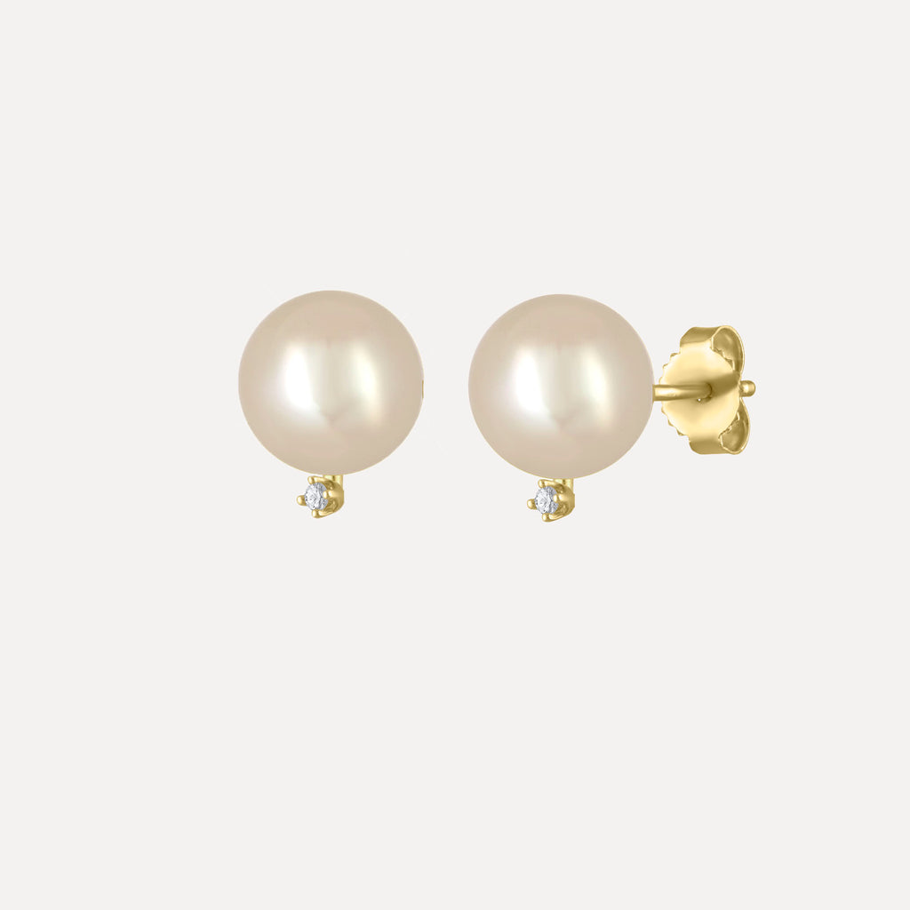 Pearl & Diamond Accent Studs
