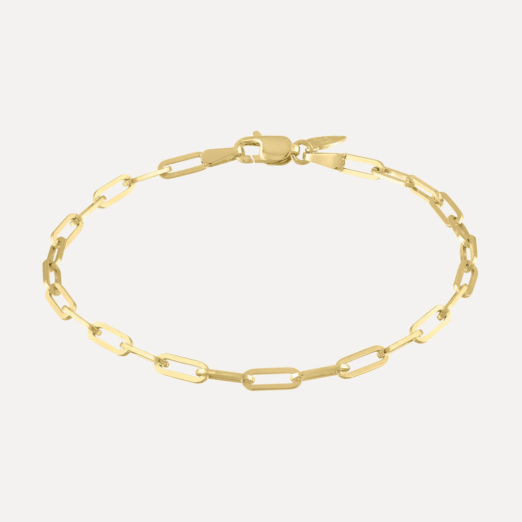 Long Link Bracelet - Yellow Gold - Kelly Bello®