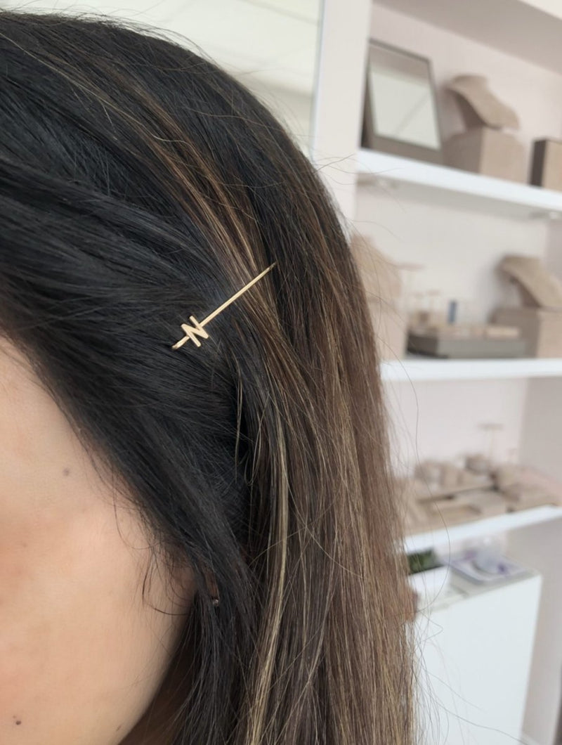 Bobby Pin with Letter - Kelly Bello Design