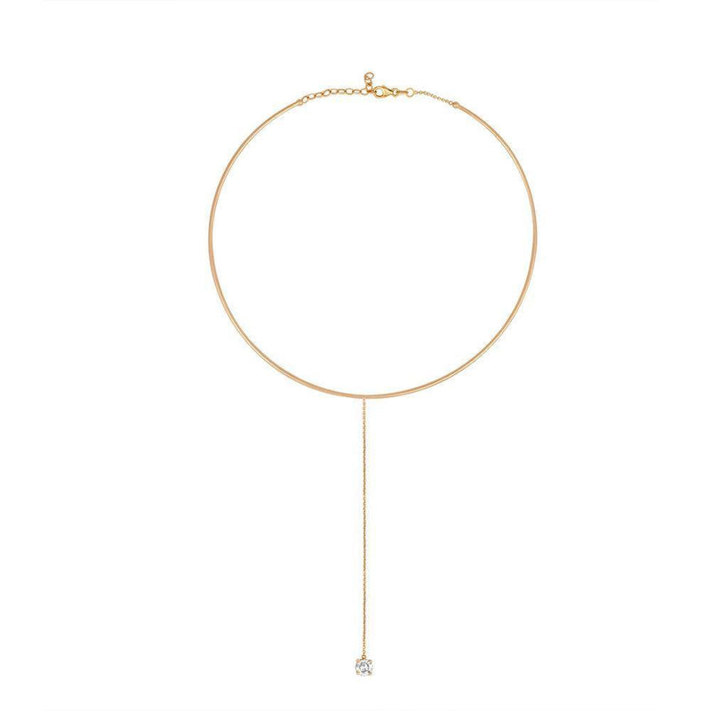 Dahlia Lariat Diamond Choker Necklace - Kelly Bello Design