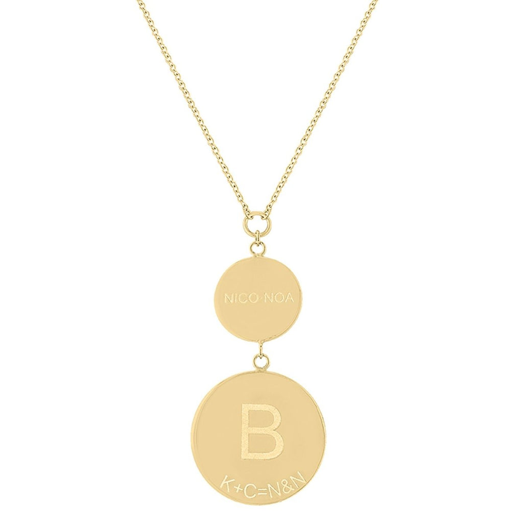 Double Disk Necklace - Kelly Bello Design