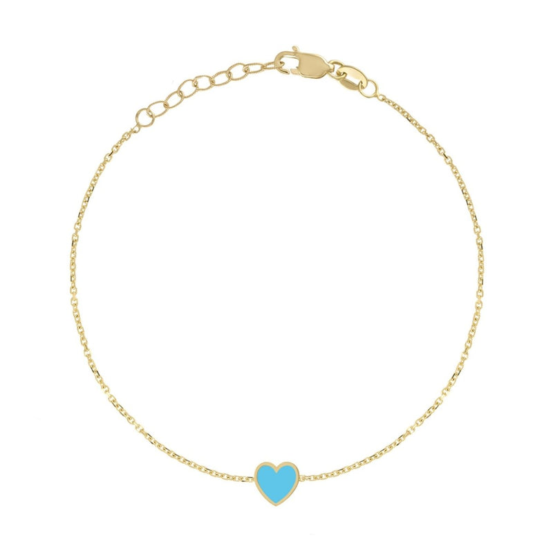 Enamel Heart Bracelet - Kelly Bello Design
