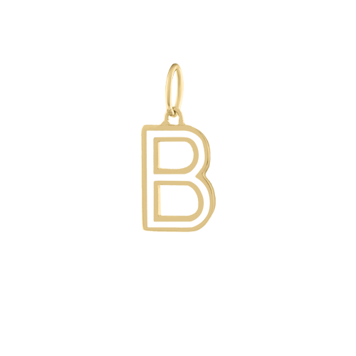 Enamel Letter Necklace Charm - Kelly Bello Design