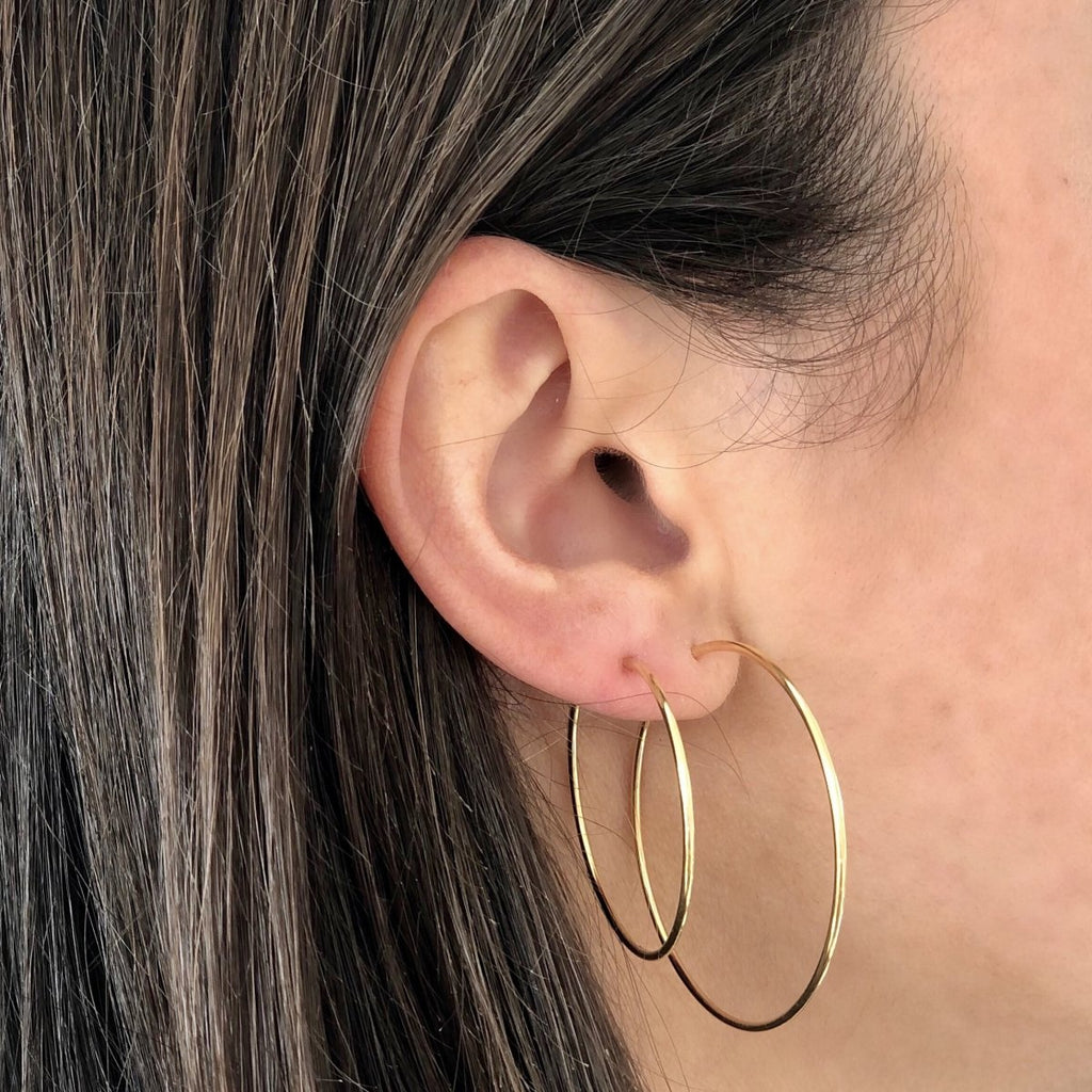 Extra Thin Hoop Earrings - Kelly Bello Design