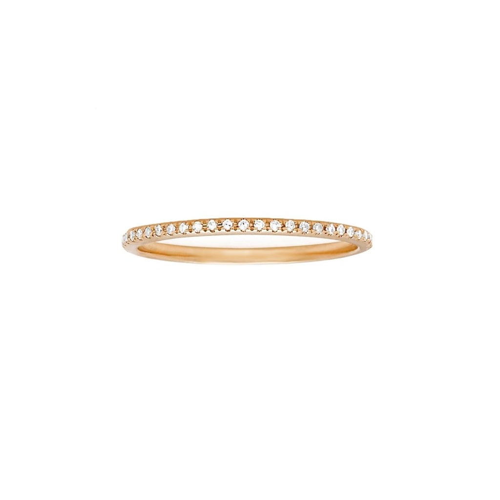 Micro Pave Half Eternity Band - Kelly Bello Design