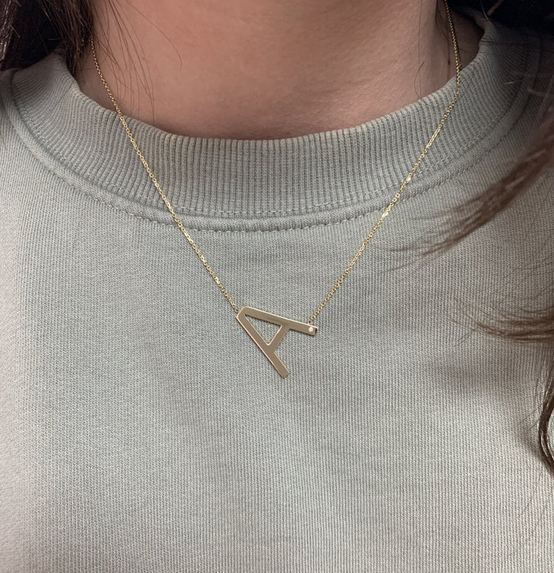 Mighty Letter Necklace - Kelly Bello Design