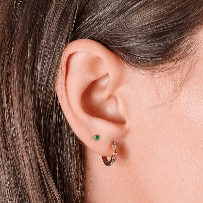 Mini Birthstone Studs - Kelly Bello Design